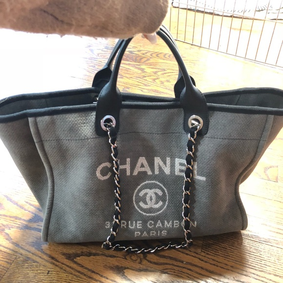 fb579591c685 CHANEL Bags | Sold Authentic Grey Large Deauville | Poshmark